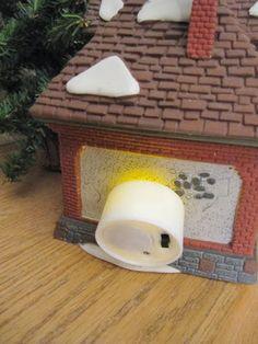cordless Christmas village