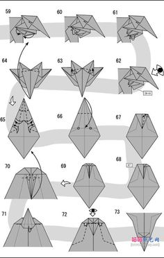 Learn to make an origami lion by T Gotani. This is a hard model so be prepared. Free origami instructions for lots of models Origami Lion, Star Wars Origami, Instruções Origami, Origami Yoda, Origami Ball, Origami Dragon, Origami Bookmark, Origami Folding, Useful Origami
