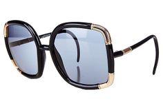 1970s Ted Lapidus Paris Black Sunglasses on OneKingsLane.com
