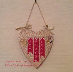 Christmas Wall Hanging Ribbon from Crafty Ribbons