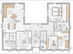 Hausansicht Elbe-Haus® Bungalow 3-123-U