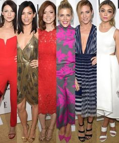 """Top 10 Best Dressed At ELLE's Annual Women in Television Celebration #1 Caitriona Balfe The model turned actress, who stars in the Starz original hit series """"Outlander"""" sizzled in a $156 red stretch crepe strapless jumpsuit by the London based label House of CB paired with Stuart Weitzman 'Nudist' sandals, a Rauwolf clutch, a Jennifer Fisher ring and choker and a Maria Black ear cuff. Fabulous and affordable! (Shop her 'Perla' style jumpsuit HERE)"""