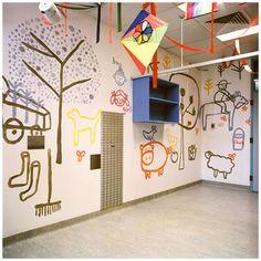 Sydney Royal Children's Hospital mural by Jane Reiseger.