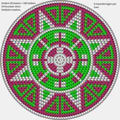 Ravelry: All Fours pattern by Tapestry Crochet Patterns, Crochet Mandala, Crochet Chart, Crochet Stitches, Mochila Crochet, Beadwork Designs, Tapestry Bag, Native Beadwork, Tribal Fusion