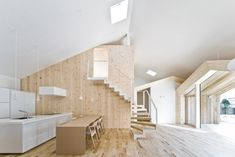We love the flavor and feel of Japanese architecture. This wooden house design by Japanese architect Yoshichika Takagi is one of a kind here in Sapporo, Japanese Architecture, Interior Architecture, Interior Exterior, Interior Design, Japanese Interior, House Inside, Wood Interiors, Design Interiors, Wooden House
