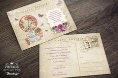 καρτ ποστάλ προσκλητήριο βάπτισης σάρα κέι με κοριτσάκι με ποτιστήρι blade.gr
