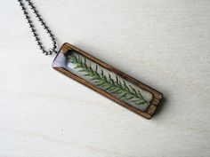 Resin and Wood Necklace Jewelry Pendant with by BuildWithWood