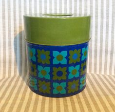 Nice swedish vintage retro tin canister in a great by Inspiria