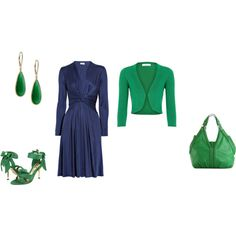 """Deep Winter - blue-green inspiration"" by adriana-cizikova on Polyvore"