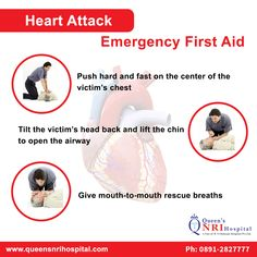 Heart Attack- Emergency First Aid For more info. visit: www.queensnrihospital.com || Dial: 0891-2827777, 99662 56981
