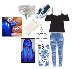 """""""Blue Beauty"""" by starlight-fairy ❤ liked on Polyvore featuring Casetify, Links of London and Yves Saint Laurent"""