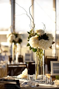 Love these tall centerpieces!