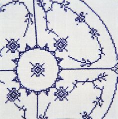 """Supper"", detalje, korssting/crosstick, 140x380cm, 2001-2002."