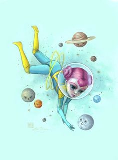 """Mab Graves Paints a Fantastic Cosmos in """"Atomic Candy Cosmonauts""""   Hi-Fructose Magazine"""