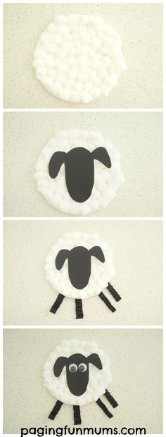 Paper Plate Sheep Craft. Simple to make and oh so adorable!