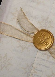 Ana Rosa, chasingrainbowsforever: Colors ~ Gold and. Parisian Wedding, French Wedding, Gold Wedding, Wedding Bells, Wax Seal Stamp, No Rain, The Infernal Devices, Touch Of Gold, Wax Seals