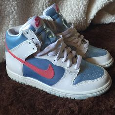 Nike Shoes Shiny Blue White and Pink , New Contions , Size 4 In Girls . Nike Shoes Athletic Shoes