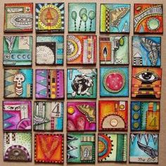 Rainbow Inchies - Great collaborative art project!