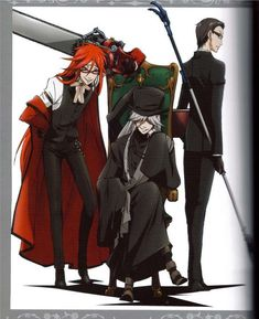 Black Butler ~~ The Hot Shinigami Club featuring Grell, the Undertaker, and Will