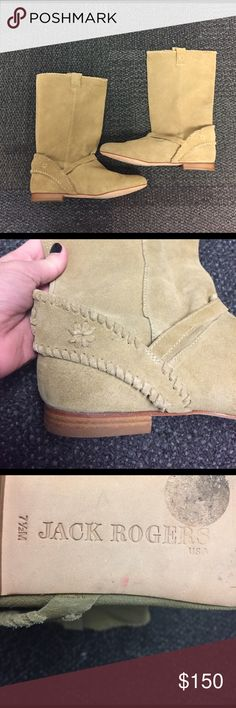 Jack Rogers Women's Palomino Boots Real suede boots, worn once. In GREAT shape, no dirt or stains on the suede and no scuffing on the bottom. They are a half size too big for me! Run true to size. New but no box. Jack Rogers Shoes Heeled Boots