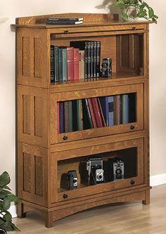 Barrister& Bookcase Woodworking Plan from WOOD Magazine Woodworking Jig Plans, Popular Woodworking, Woodworking Furniture, Furniture Plans, Woodworking Crafts, Office Furniture, Woodworking Shop, Woodworking Basics, Woodworking Videos