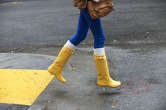 27952ff7a Adorable rainy-day style ( Crocs Rainfloe Boot) styled by  Matt Dexter
