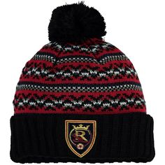 722c4bc4 Men's Real Salt Lake Mitchell & Ness Black Jacked Pom Cuffed Knit Hat, Your  Price: $24.99