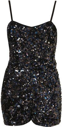 Sequin Strappy Playsuit by Dress Up Topshop - Was £ 180 now £90