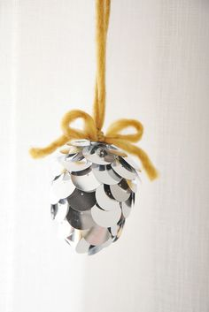 DIY Pinecone Ornament by Skunkboy Creatures., via Flickr