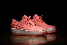 "damskie nike air force 1 mid flyknit ""bright melon"