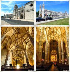 Mosteiro dos Jerónimos - Lisboa. O monumento é considerado património mundial pela UNESCO, e em 7 de Julho de 2007 foi eleito como uma das sete maravilhas de Portugal.