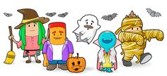 is coming and the Chromers have already chosen their customes! Halloween Design, Halloween Night, Create Yourself, Coding, Kids, Free, Young Children, Boys, Children