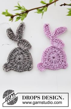 Crochet - Free knitting patterns and crochet patterns by DROPS Design Crochet Beard, Beau Crochet, Crochet Mignon, Love Crochet, Beautiful Crochet, Double Crochet, Easter Crochet Patterns, Crochet Bunny Pattern, Crochet Rabbit
