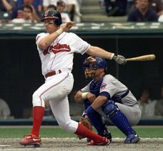 Matt Wiiliams as a ball player with the Cleveland Indians