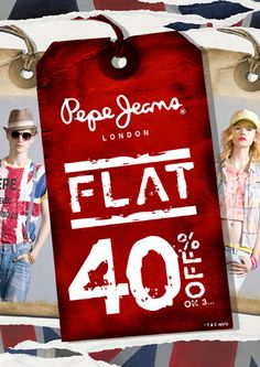Pepe Jeans India sale is finally here! Flat 40% off across all Pepe Jeans outlets. Need we say anything more?