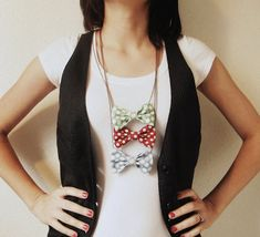 Bow Tie Necklace  Polka Dot  Choose your own color by Fr33na, $11.00