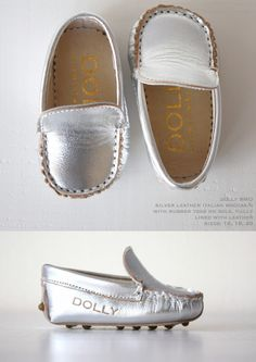 For good little girls :)   DOLLY by Le Petit Tom ® BABY MOCCASIN 8MO silver