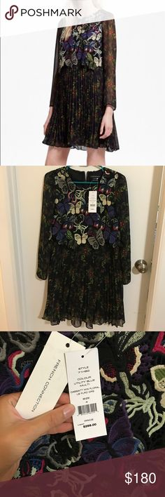 French Connection Embroidered Floral Dress Size 4 French Connection dress. Slight a-line fit. Slightly sleeves. Thread embroidery on top. Brand new with tags. Looking to sell, all offers will be seriously considered. French Connection Dresses