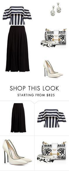 """""""Trump Soho in New York."""" by cmmpany ❤ liked on Polyvore featuring The Row, Casadei and Prada"""