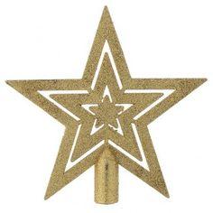 Punta del Árbol de navidad forma de estrella dorada
