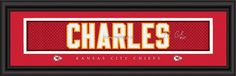 "Kansas City Chiefs Jamaal Charles Print - Signature 8""x24"""