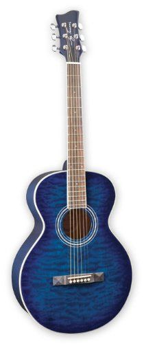 Jay Turser Series Vintage Style Acoustic Guitar Blue Sunburst Quilt Top for sale online Vintage Fashion, Vintage Style, Cool Guitar, Quilt Top, Acoustic Guitar, Jay, Music Instruments, Blue, High Gloss
