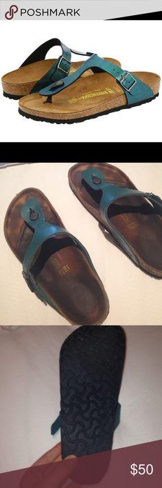 Birkenstock Gizeh in Emerald Isle 39 Good used condition Birkenstock Shoes Sandals