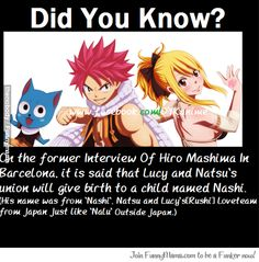 a fact from hiro on fairy tail about lucy and natsu! Does this prove that their relationship will canon! YES!! :D