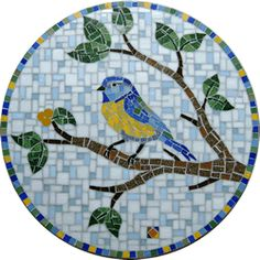 Modelo Pássaro 2 Owl Mosaic, Butterfly Mosaic, Mosaic Birds, Mosaic Tile Designs, Stained Glass Designs, Mosaic Patterns, Mosaic Stepping Stones, Stone Mosaic, Mosaic Glass