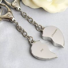 Personalised Any Message Two Hearts Keyring - valentines keyring - valentines heart keyring - annive 25 Wedding Anniversary Gifts, Anniversary Gifts For Parents, Wedding Gifts, 25th Anniversary, Best Friend Gifts, Gifts For Friends, Heart Keyring, Valentine Heart, Valentines