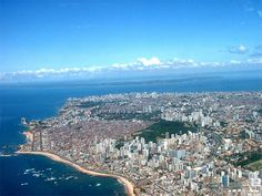 Salvador city Bahia Brazil from the air Rio Grande Do Norte, Bahia Brazil, Paraiba, Largest Countries, Travel And Leisure, Great Photos, South America, Places To Travel, Places Ive Been