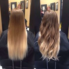 dark blonde to light blonde ombre straight hair - Google Search