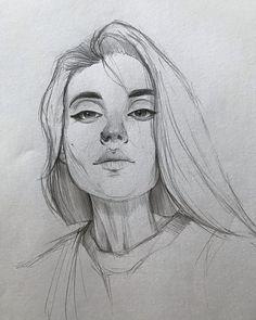 Contour drawing of Banana leaf. Portrait Sketches, Art Drawings Sketches Simple, Pencil Art Drawings, Portrait Art, Cool Drawings, Portraits, Drawing Ideas, Arte Sketchbook, Drawing People