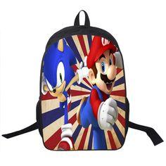 Kids Mario Printing Backpack Children Cartoon Sonic Backpacks Boys Girls School Bags For Kindergarten Daily Backpack Book Bag  #backpack #bag #handbags #YLEY #highschool #bagshop #shoulderbags #fashion #L09582 #Happy4Sales #kids
